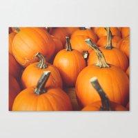 Cute Lil' Pumpkins Canvas Print