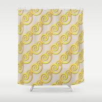 Golden Swirls Shower Curtain