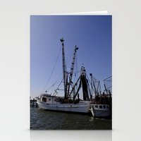 Fishing Boat And His Sid… Stationery Cards