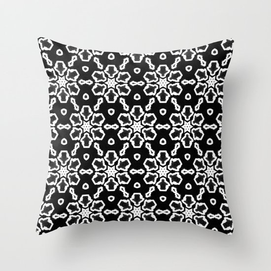 Black And White Patterned Throw Pillows : Black and White Pattern 01 Throw Pillow by MehrFarbeimLeben Society6
