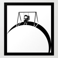 In Space No One Will Pus… Art Print