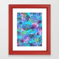 Tropicana - Blue Framed Art Print