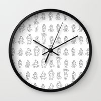 Dip & Come Up - Black & White Wall Clock