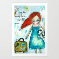 Travel Girl Quote Art Print