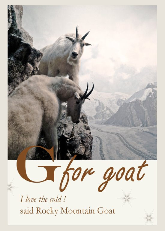 G for Goats Art Print
