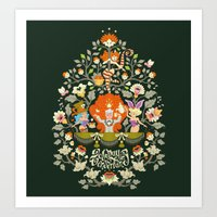 alice in wonderland Art Prints featuring Wonderland by rosekipik