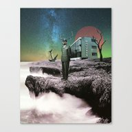 Crash Landing Canvas Print