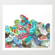 Tons of Shoes Art Print