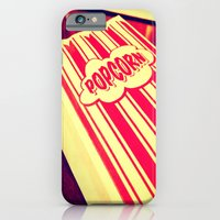iPhone & iPod Case featuring Popcorn, Get Your Popcorn Here!!! by Sara Miller