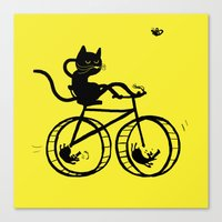 Slaved mouses Canvas Print