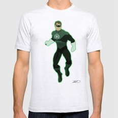 Green Lantern Mens Fitted Tee Ash Grey SMALL