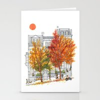 Autumn Cityscape Stationery Cards