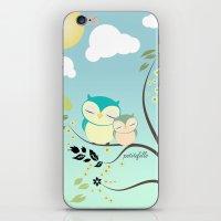 Sleeping Owls iPhone & iPod Skin