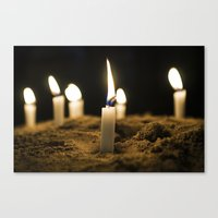 Candle in the Wind Canvas Print