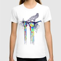 Technicolor Vision Womens Fitted Tee White SMALL