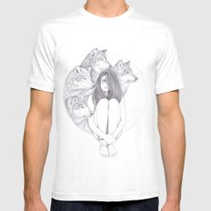 Company Of Wolves SMALL White Mens Fitted Tee