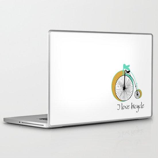 I love bicycle Laptop & iPad Skin