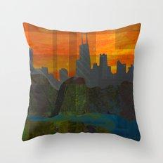 Sunset City (Chicago) Throw Pillow