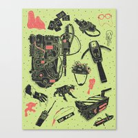 Artifacts: Ghostbusters Canvas Print