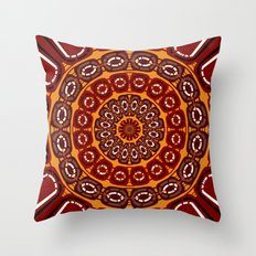 Dark red mandala Throw Pillow