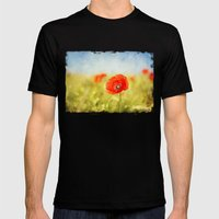 pure summer feelings Mens Fitted Tee Black SMALL