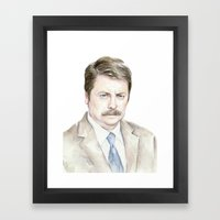 Swanson Watercolor Ron Framed Art Print