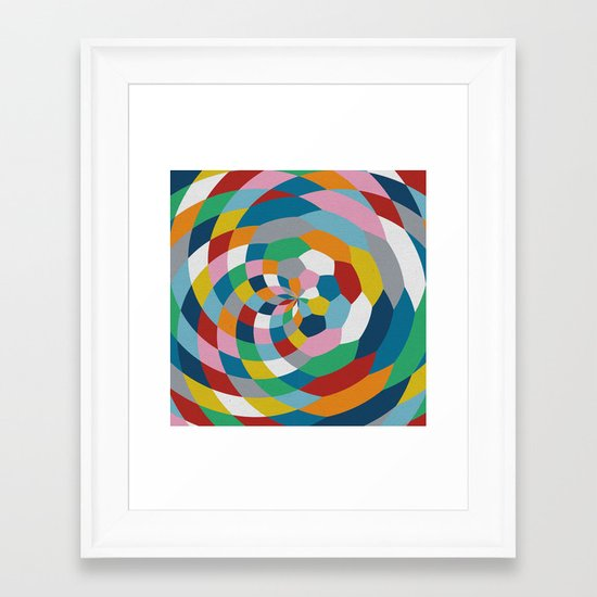 Honey Twist Framed Art Print