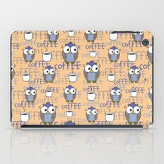 Owl orange pattern  iPad Case