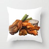 Throw Pillow featuring Buffalo Chicken by Devin Sullivan