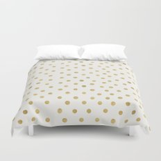 Gold Spots Duvet Cover