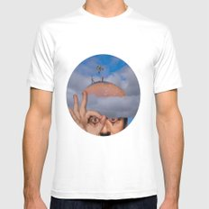 Clouds SMALL Mens Fitted Tee White