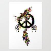 Peace dream cather Art Print