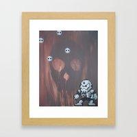 Skull man (megaman 4) Framed Art Print