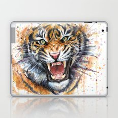 Tiger Watercolor Painting Laptop & iPad Skin