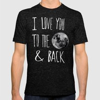 I Love You To The Moon Mens Fitted Tee Tri-Black SMALL