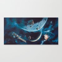 Milking The Stars - Monster Magnet Inside cover panorama Canvas Print