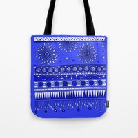 Yzor Pattern 007-2 Blue Tote Bag