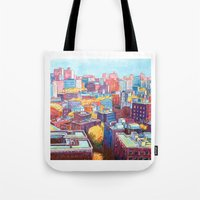NYC Rooftops Remix Tote Bag