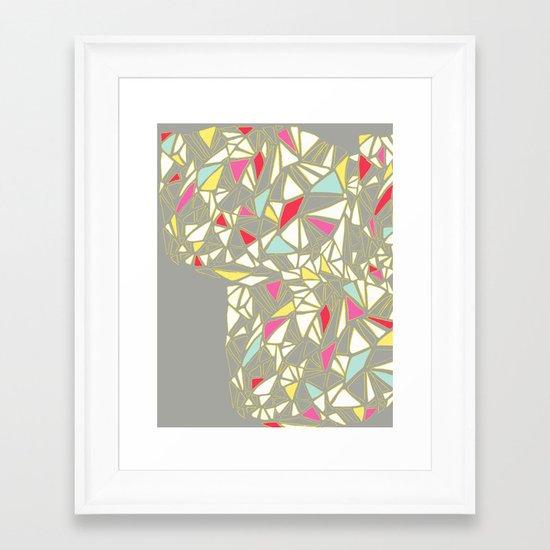 Geo Flux_bright Framed Art Print