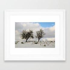 White dreams Framed Art Print