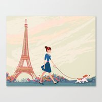 An Afternoon Stroll In P… Canvas Print