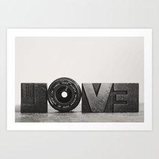 love is ... Art Print