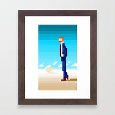 Suit in the Desert Framed Art Print
