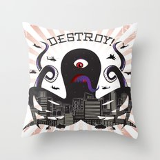 DESTROY! Throw Pillow