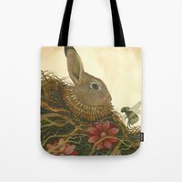 The Rabbit and the Bee Tote Bag
