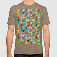Puppytooth Mens Fitted Tee Tri-Coffee SMALL