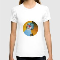 Collapsed Head Womens Fitted Tee White SMALL