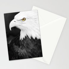 Bald Eagle with Yellow Eye Stationery Cards