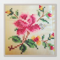 vintage embroidery Canvas Print