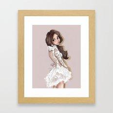 Selena in Marchesa 2014 Framed Art Print